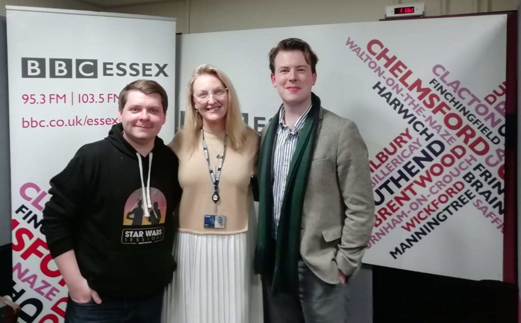 Matt and Luke joined Helen Scott at BBC Essex, Chelmsford - March 11th 2020